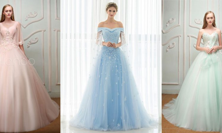 Guide To Choosing A Coloured Wedding Dress Style Fashion